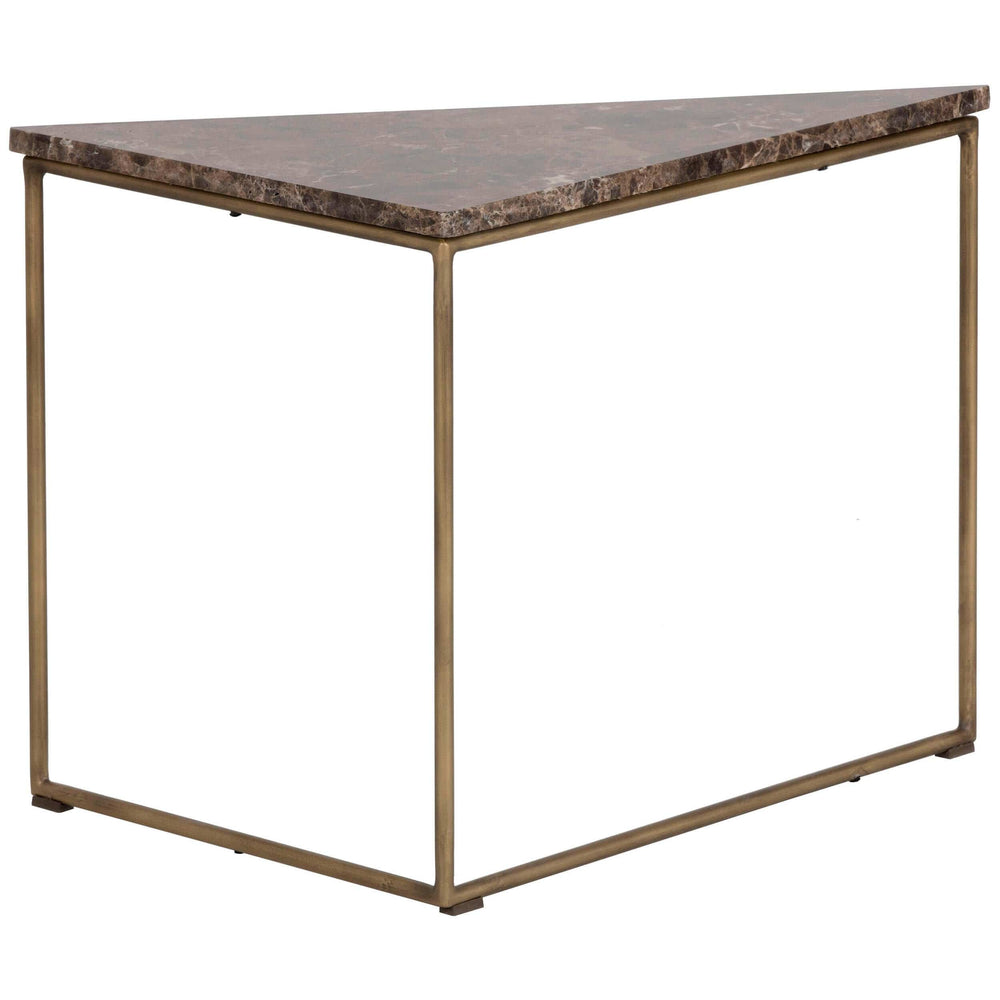 Tribute End Table, Brown Marble - Furniture - Sunpan