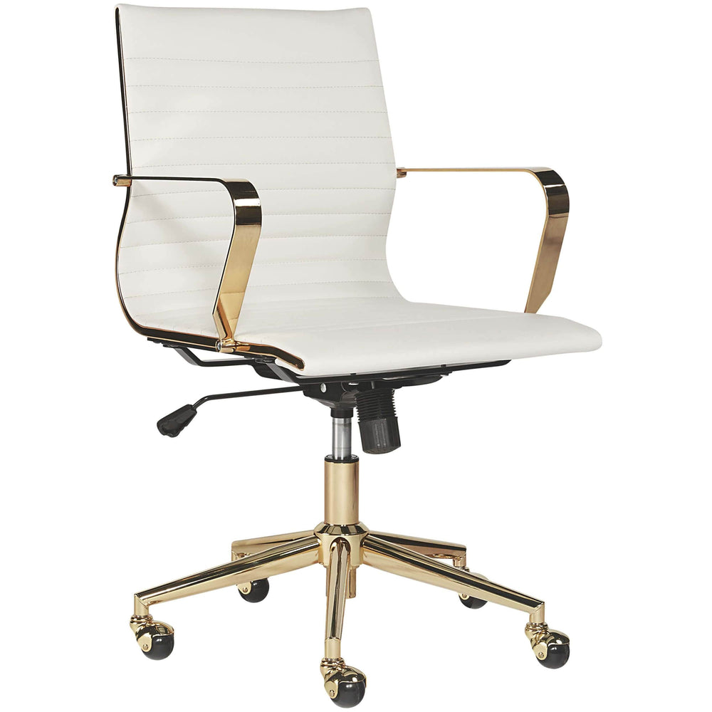 Jessica Office Chair, White - Furniture - Office - High Fashion Home