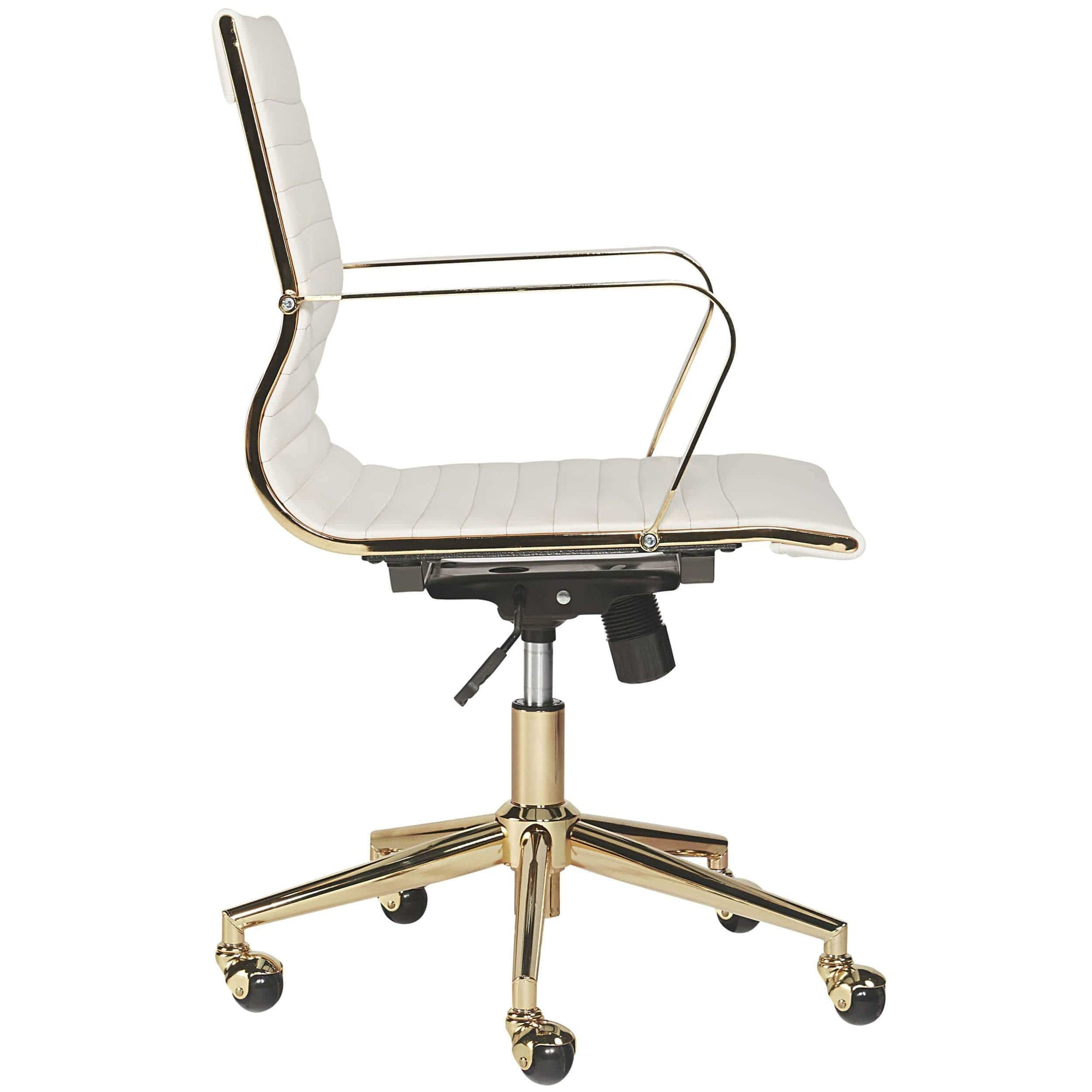 Jessica Office Chair, White – High Fashion Home