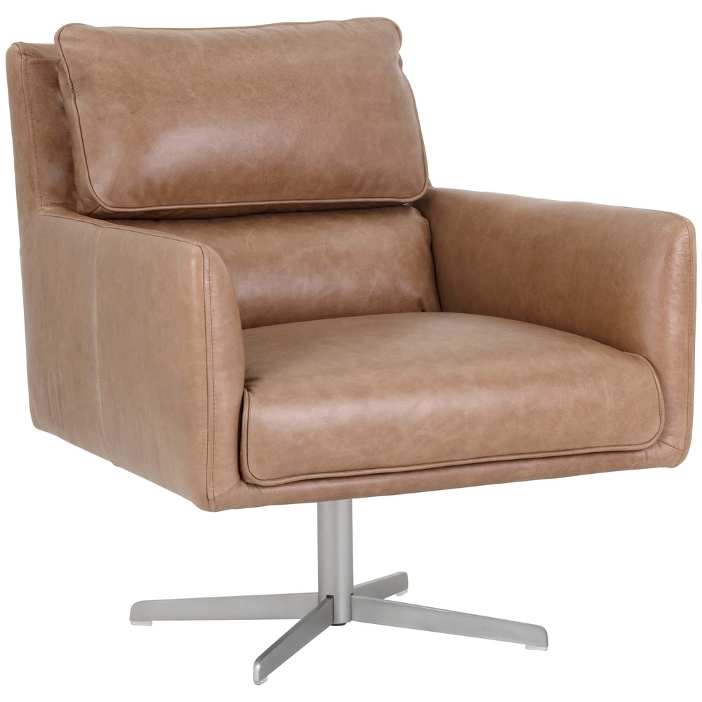 Easton Swivel Chair, Marseille Camel - Furniture - Chairs - High Fashion Home