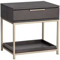 Rebel Nightstand, Charcoal Grey - Furniture - Bedroom - High Fashion Home