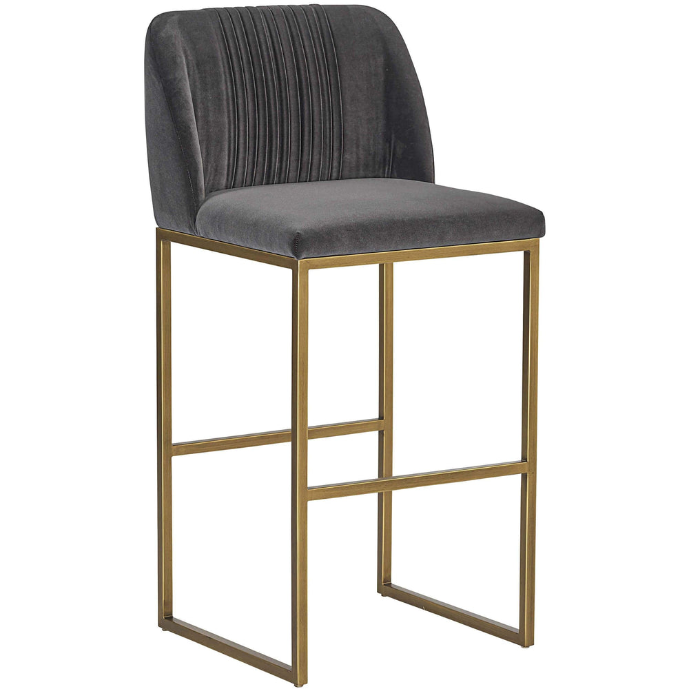 Nevin Bar Stool, Shadow Grey - Furniture - Dining - High Fashion Home