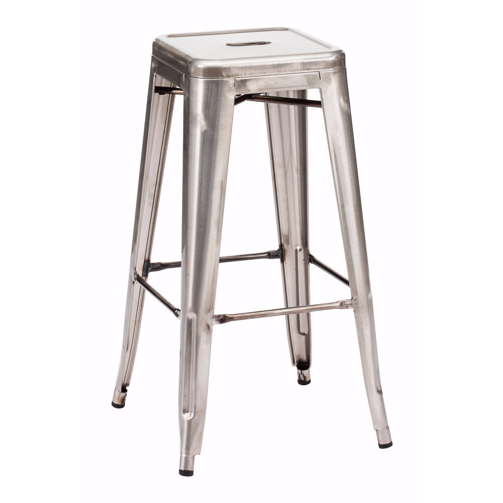Marius Bar Stool, Gunmetal (Set of 2) - Furniture - Dining - High Fashion Home