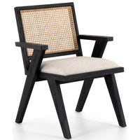 Flora Dining Chair, Drifted Matte Black, Set of 2-Furniture - Dining-High Fashion Home