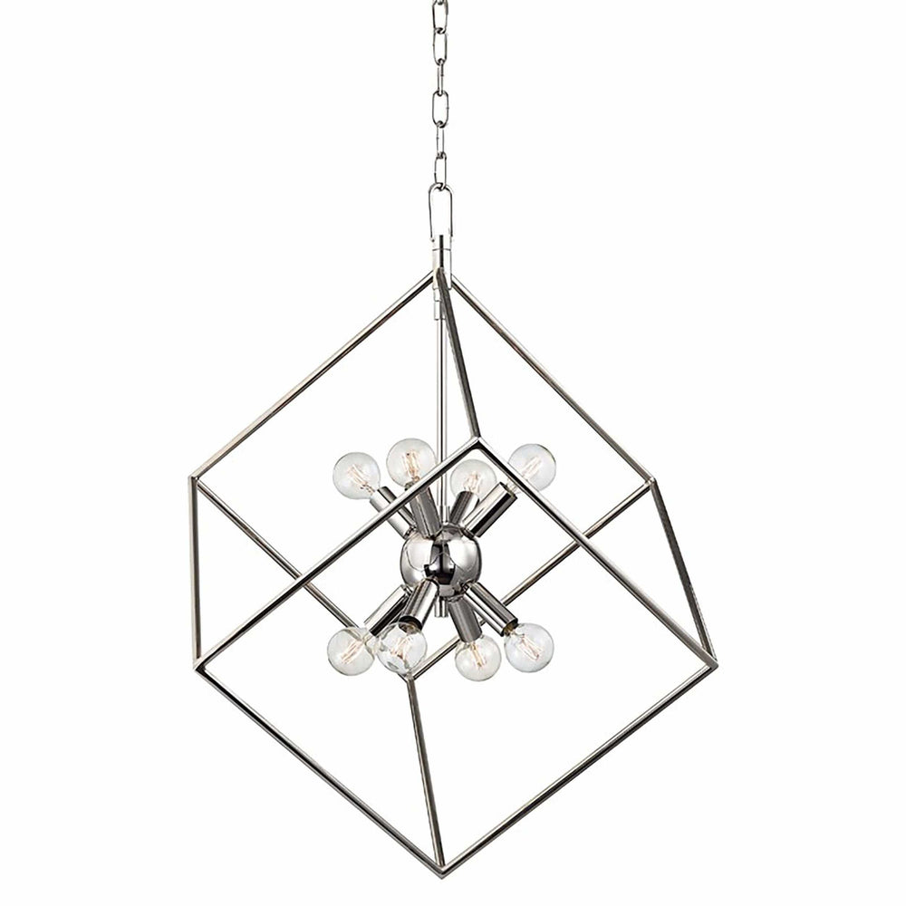 Roundout 8 Light Pendant, Polished Nickel - Lighting - High Fashion Home