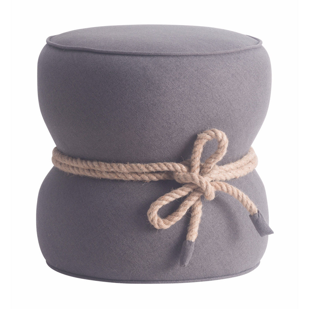 Tubby Ottoman, Gray - Furniture - Accent Tables - Cocktail Ottomans