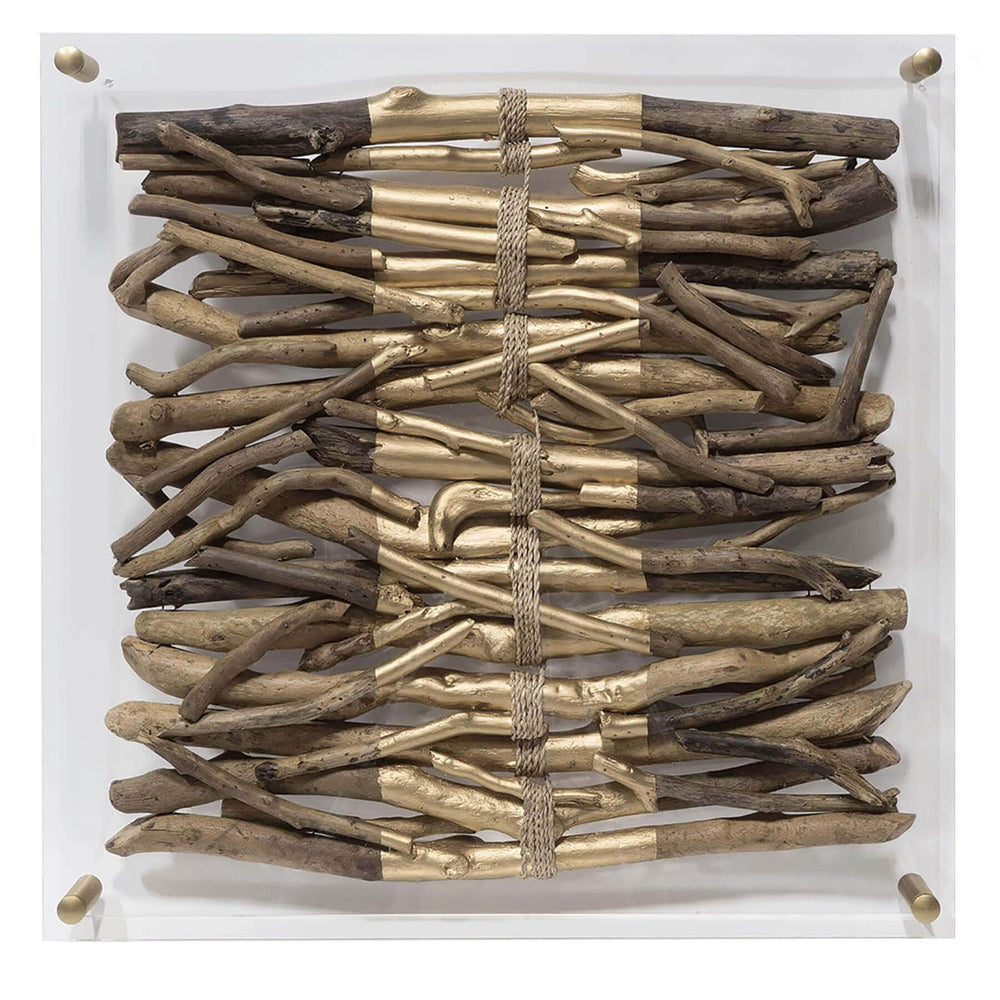 Acrylic Driftwood Wall Decor, Stripe - Accessories - Wall Décor