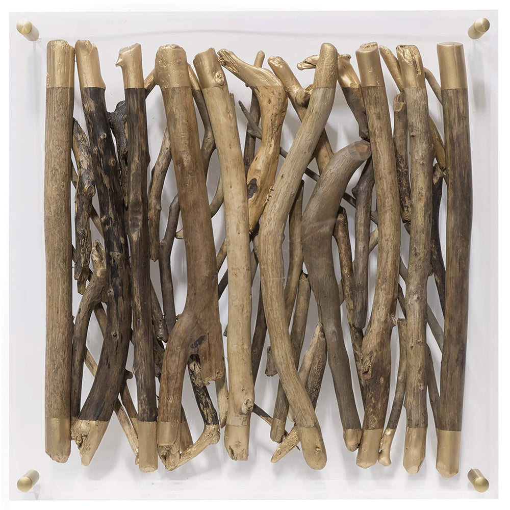 Acrylic Driftwood Wall Decor, Square - Accessories - Wall Décor