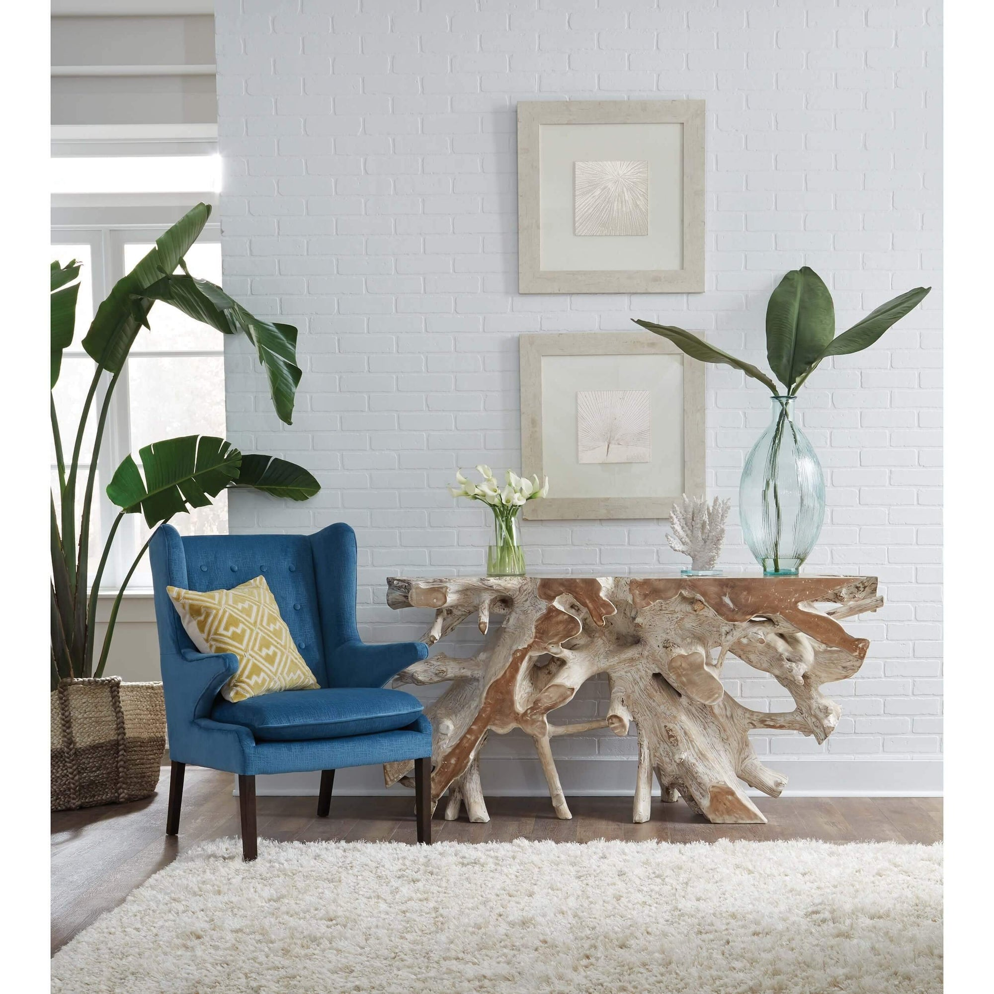 Cypress Root Console Table High Fashion Home