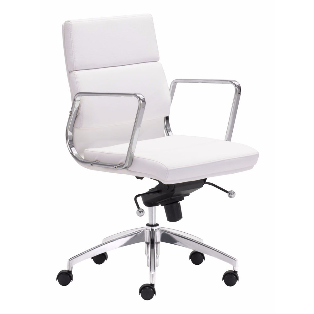Engineer Low Back Office Chair, White - Furniture - Office - High Fashion Home