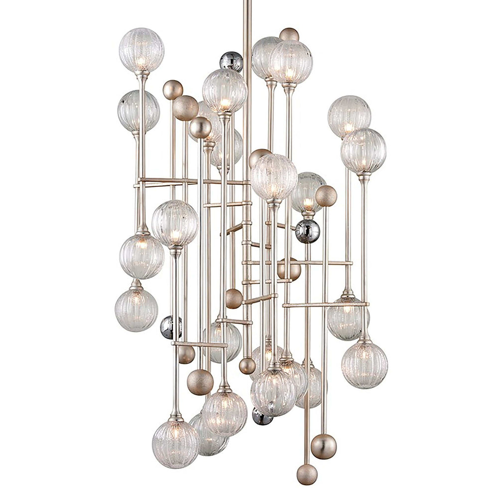 Majorette 24 Light Pendant, Silver Leaf - Lighting - High Fashion Home