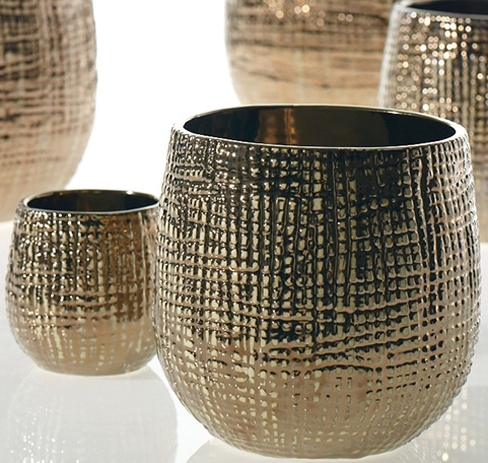 Hazel Pot, Bronze - Accessories - Tabletop - Bronze, Brass & Gold