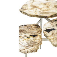 Petrified Wood Tier Table - Furniture - Accent Tables - End Tables