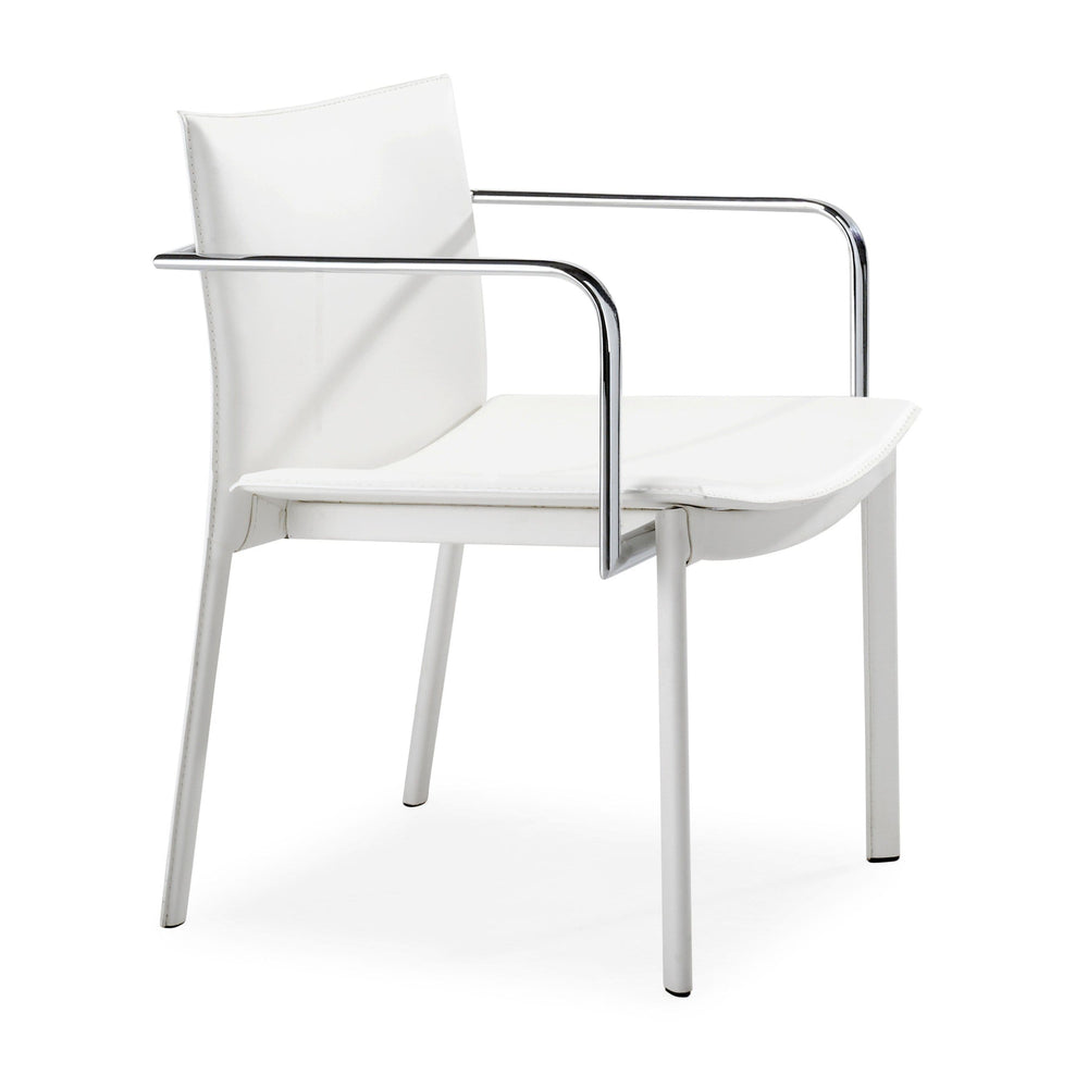 Gekko Conference Chair, White (Set of 2) - Furniture - Office - High Fashion Home