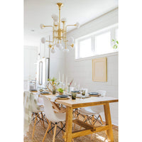 Fleming 16 Light Chandelier, Aged Brass - Lighting - High Fashion Home