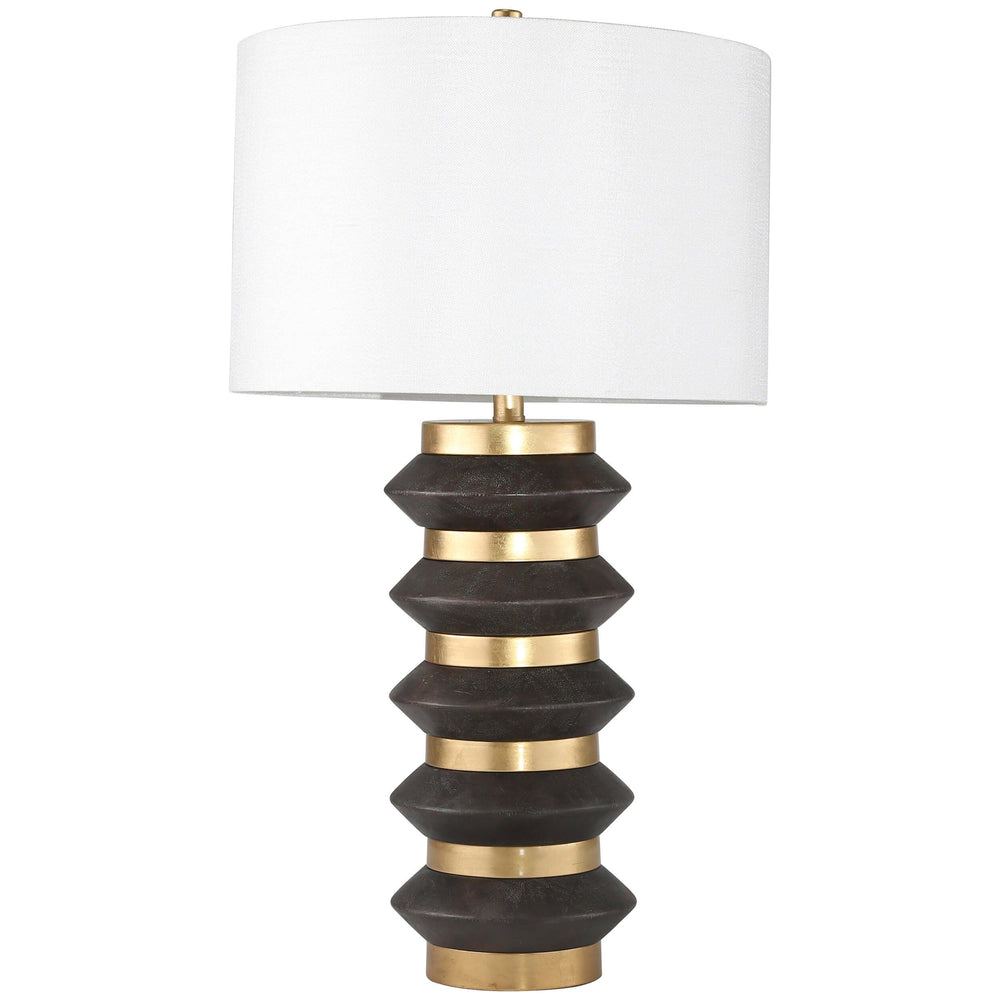 Stacked Circles Table Lamp w/USB Port