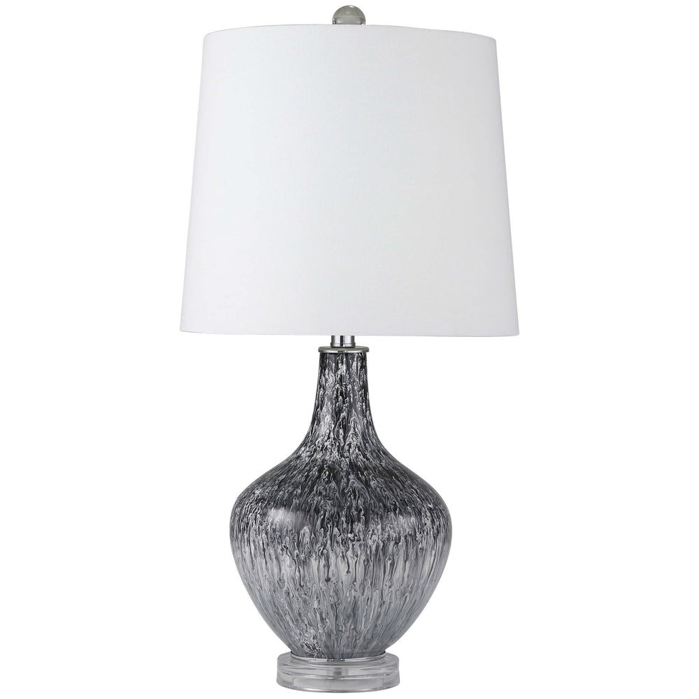 Teardrop Table Lamp, Black and White - Lighting - High Fashion Home