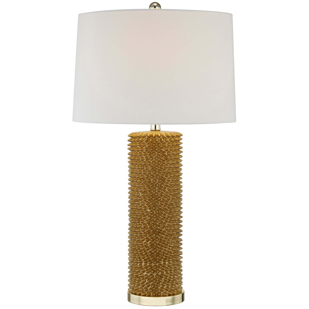 Spiked Table Lamp, Gold