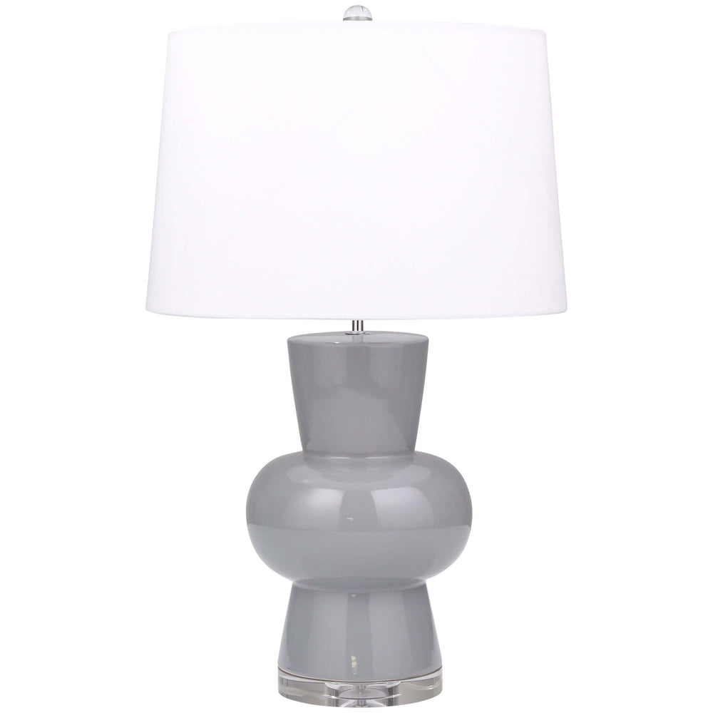 Single Gourd Table Lamp, Gray - Lighting - High Fashion Home