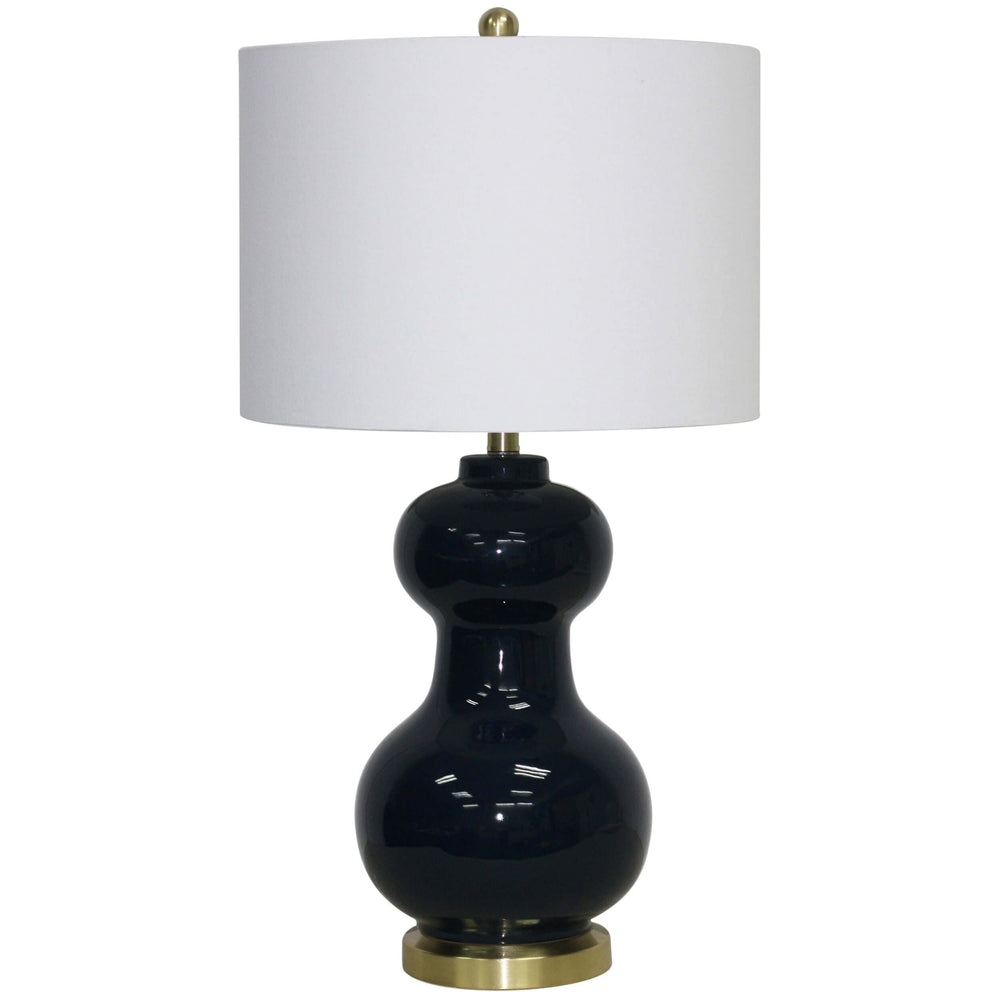 Double Ball Table Lamp, Navy Blue