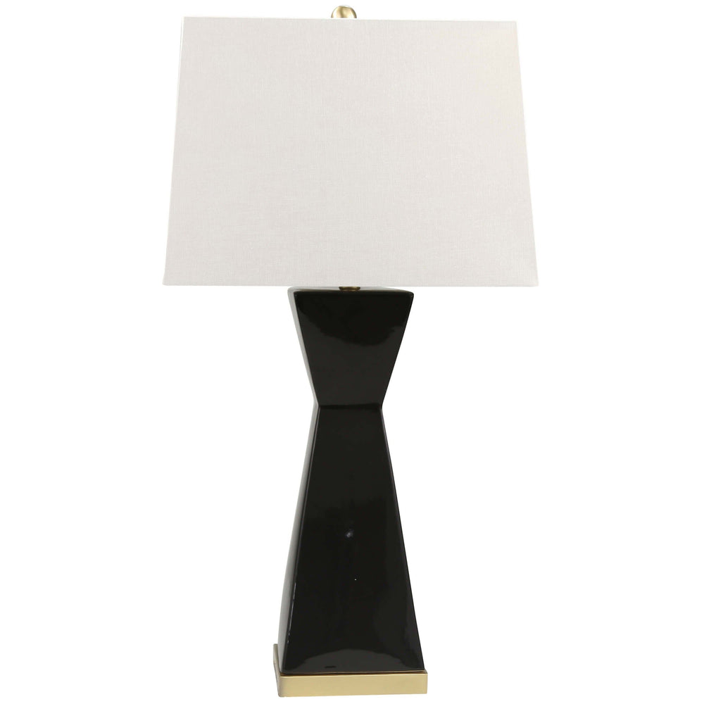 Hourglass Table Lamp, Black
