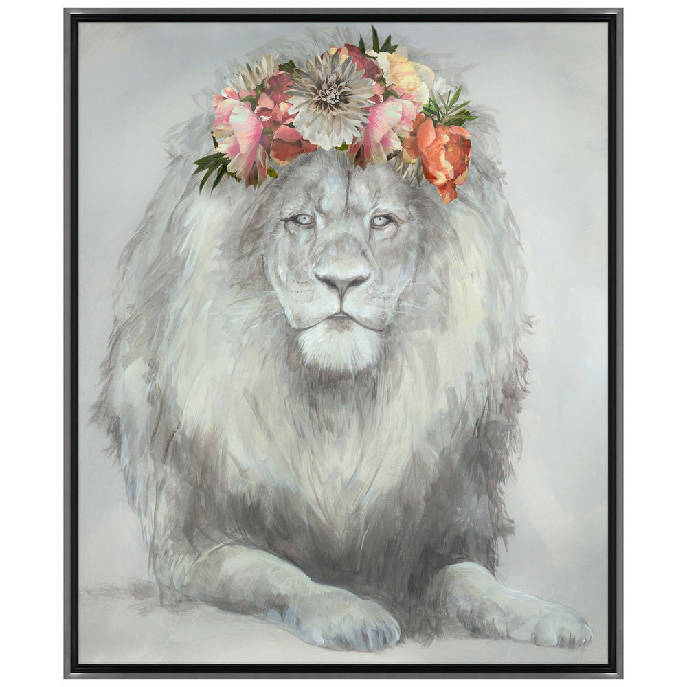Feline and Flowers Framed - Accessories Artwork - High Fashion Home
