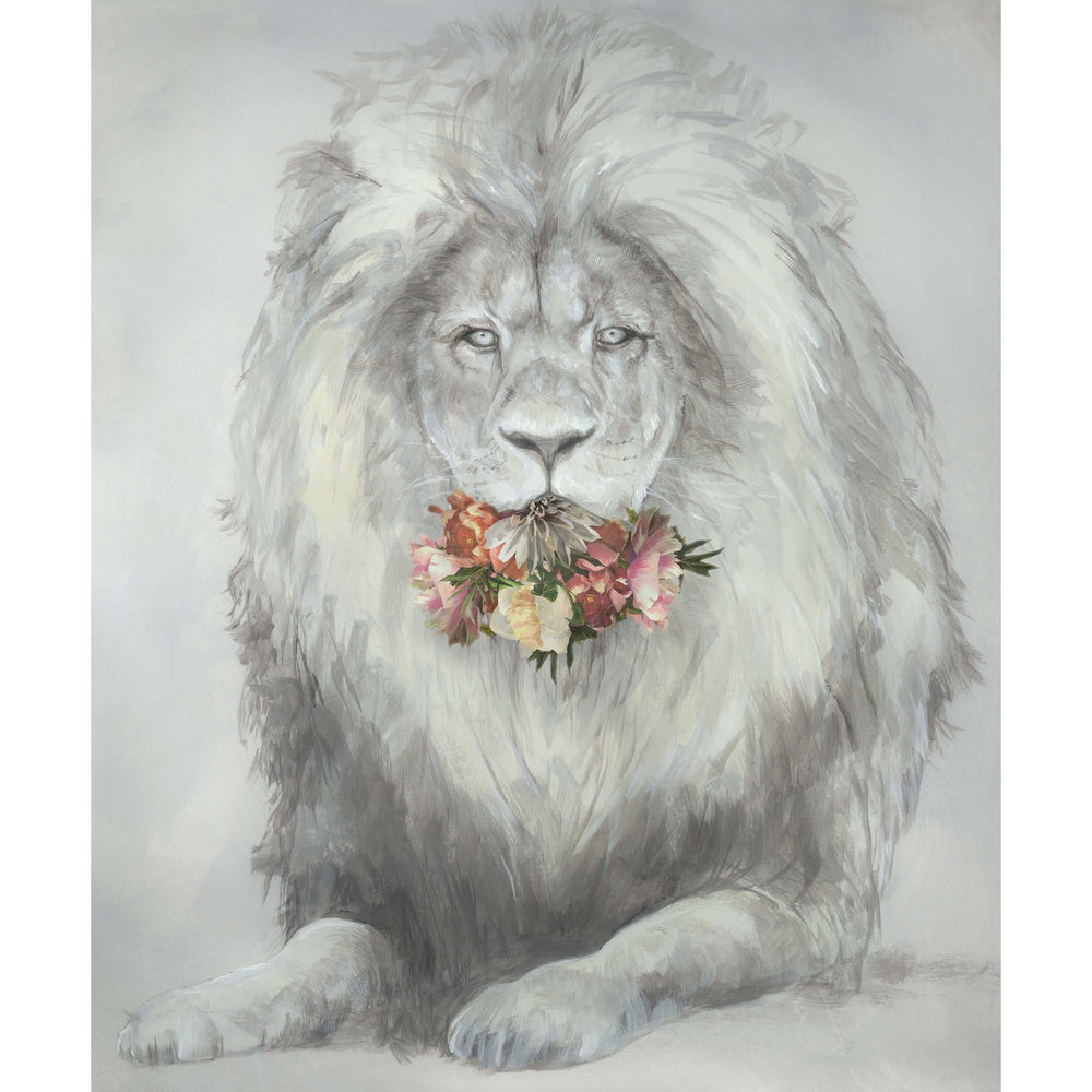 Feline and Flowers II - Accessories - Canvas Art - Animal