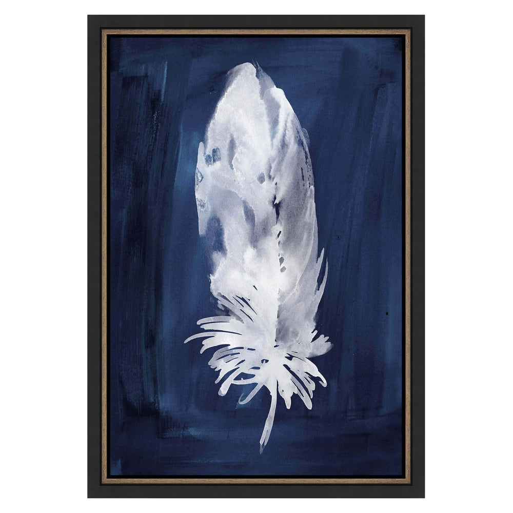 Indigo Feathers IV Framed - Accessories Artwork - High Fashion Home