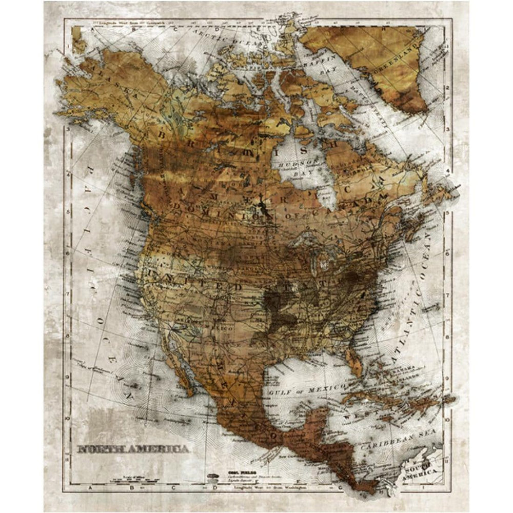 Classic Projection I - Accessories - Canvas Art - Cities and Maps
