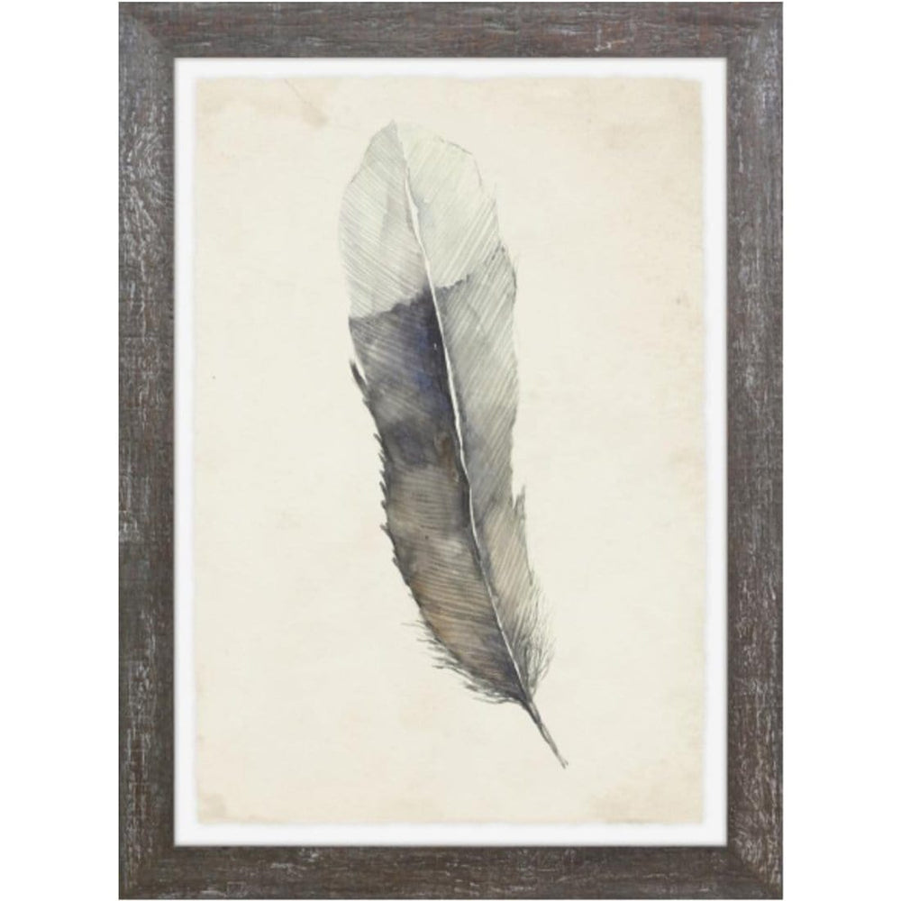 Charcoal Feathers II Framed - Accessories Artwork - High Fashion Home