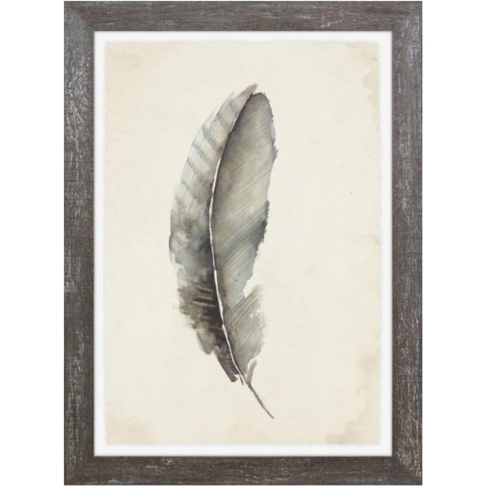Charcoal Feathers III Framed - Accessories Artwork - High Fashion Home