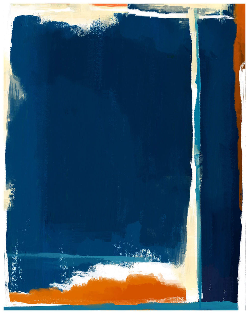 Composition of Blue and Orange I - Accessories - Canvas Art - Abstract