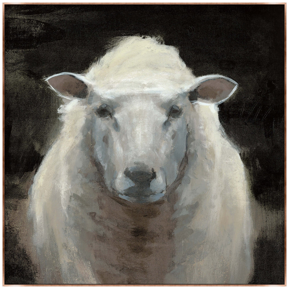 Portrait of a Sheep II Framed - Accessories Artwork - High Fashion Home