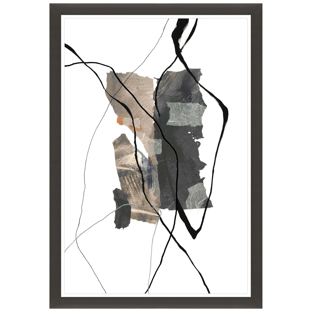 Descent of Shapes IV Framed - Accessories Artwork - High Fashion Home