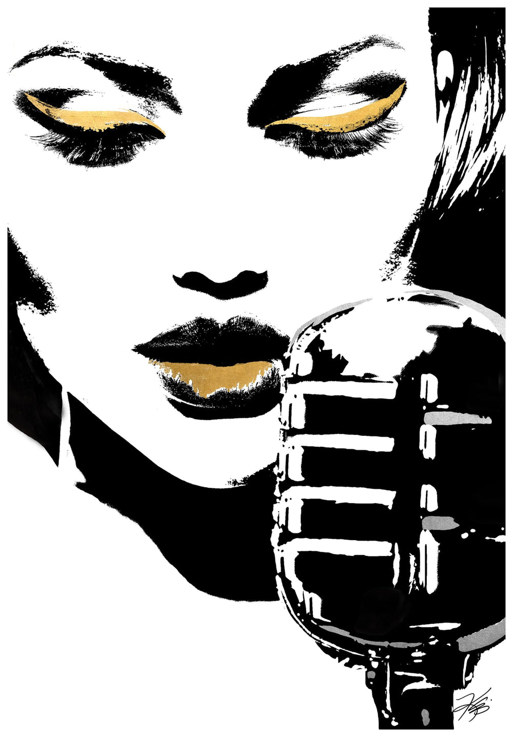 Glam Rock I - Accessories - Canvas Art - People