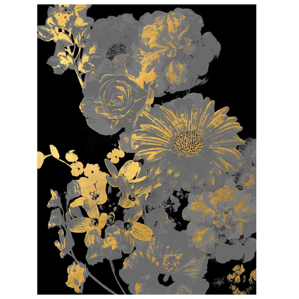 Golden Bouquet I - Accessories - Canvas Art - Abstract