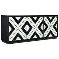 Sanctuary Noir Et Blanc Entertainment Console - Furniture - Storage - High Fashion Home
