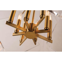 Travis 8 Light Pendant, Aged Brass - Lighting - Chandeliers