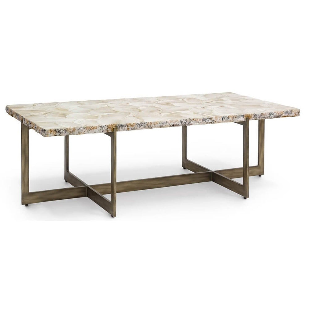 Durham Fossilized Clam Coffee Table - Modern Furniture - Coffee Tables - High Fashion Home