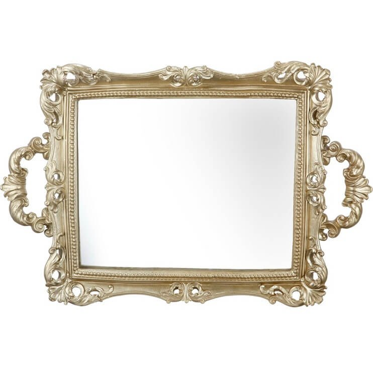 Baroque Mirror Gold Tray - Accessories - Trays