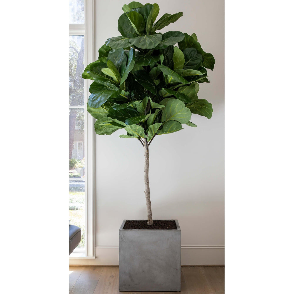 Faux Fiddle Fig Tree, Concrete Planter - Accessories - High Fashion Home