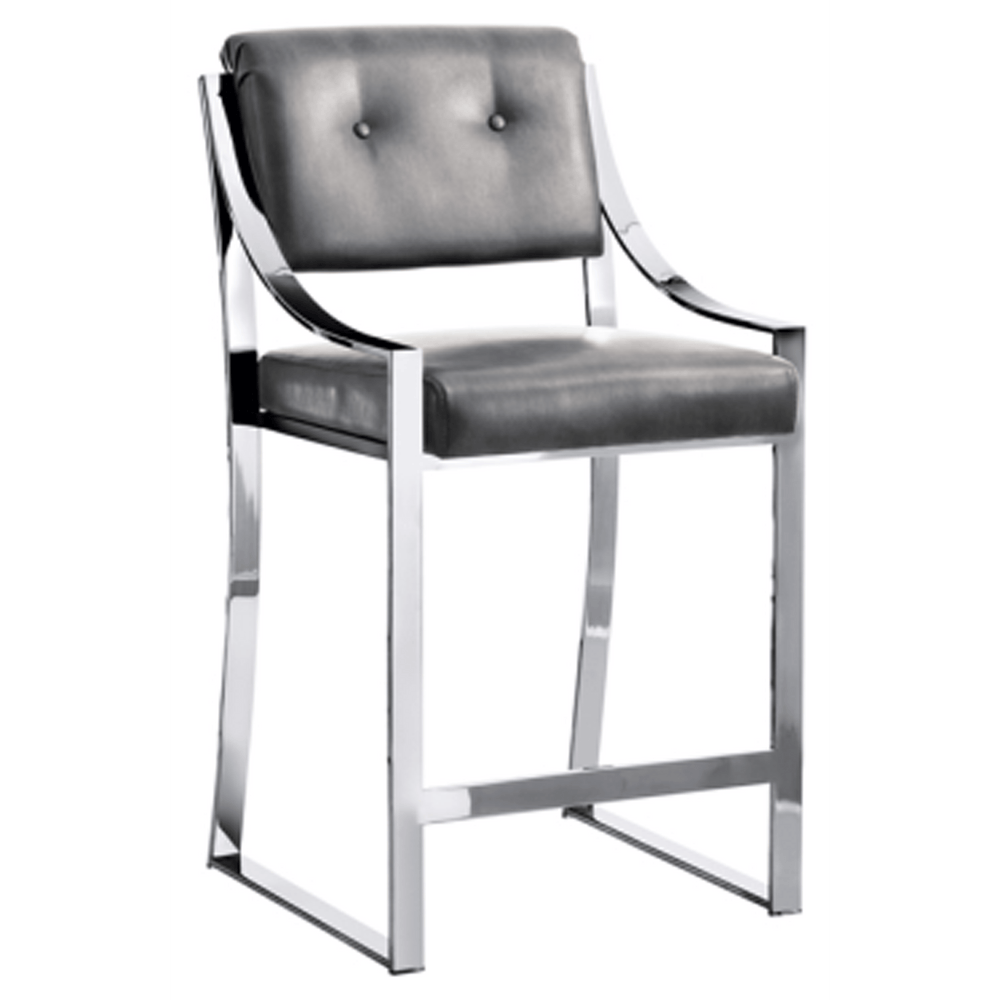 Savoy Counter Stool, Grey - Furniture - Dining - High Fashion Home