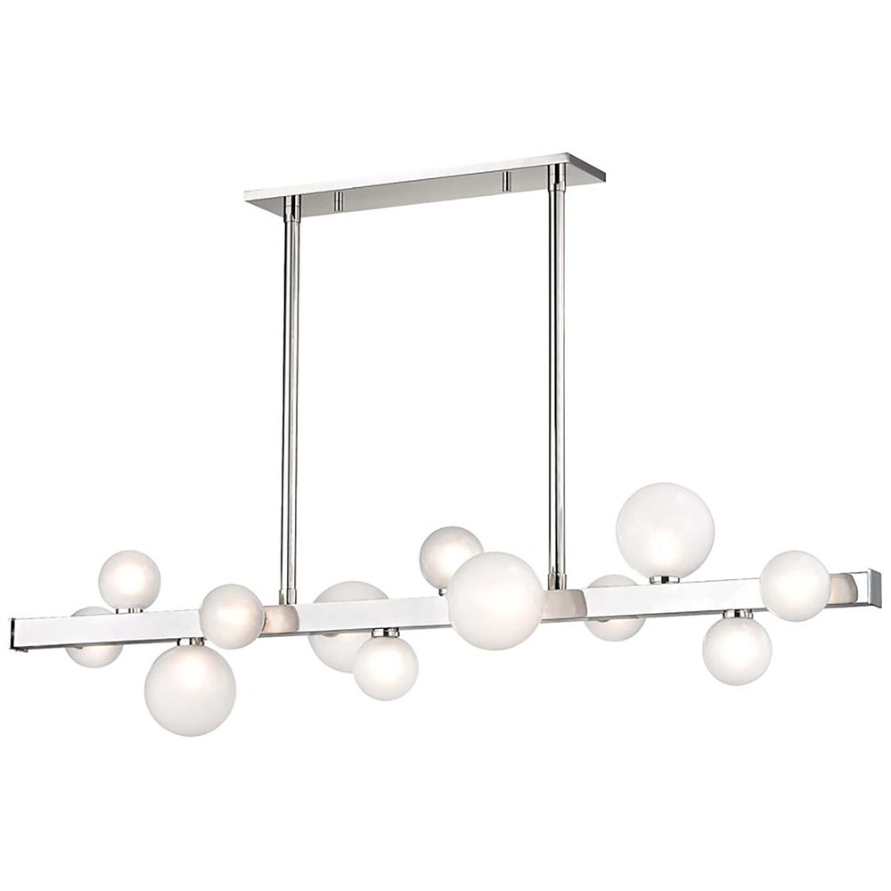 Mini Hinsdale 12 Light Island, Polished Nickel - Lighting - High Fashion Home