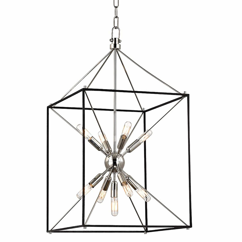 Glendale 9 Light Pendant, Polished Nickel - Lighting - Chandeliers