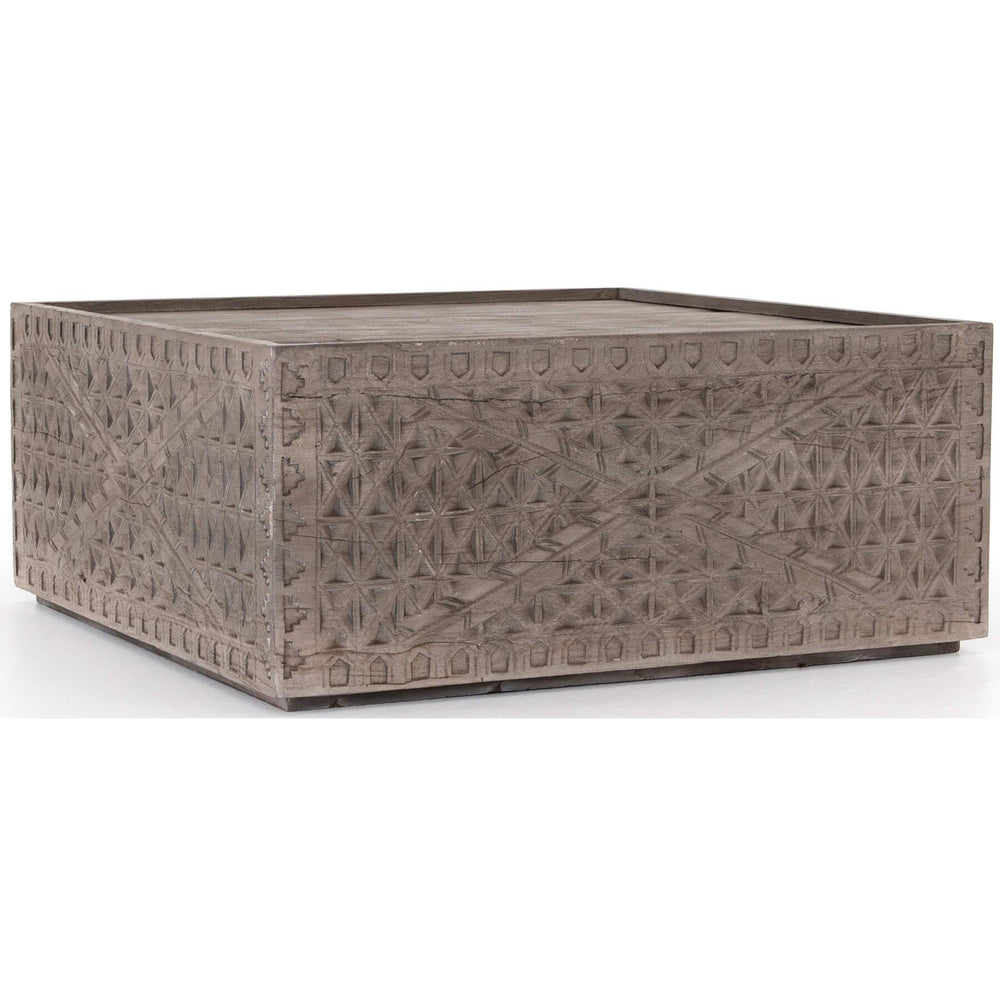 Abby Square Coffee Table, Aged Grey - Modern Furniture - Coffee Tables - High Fashion Home