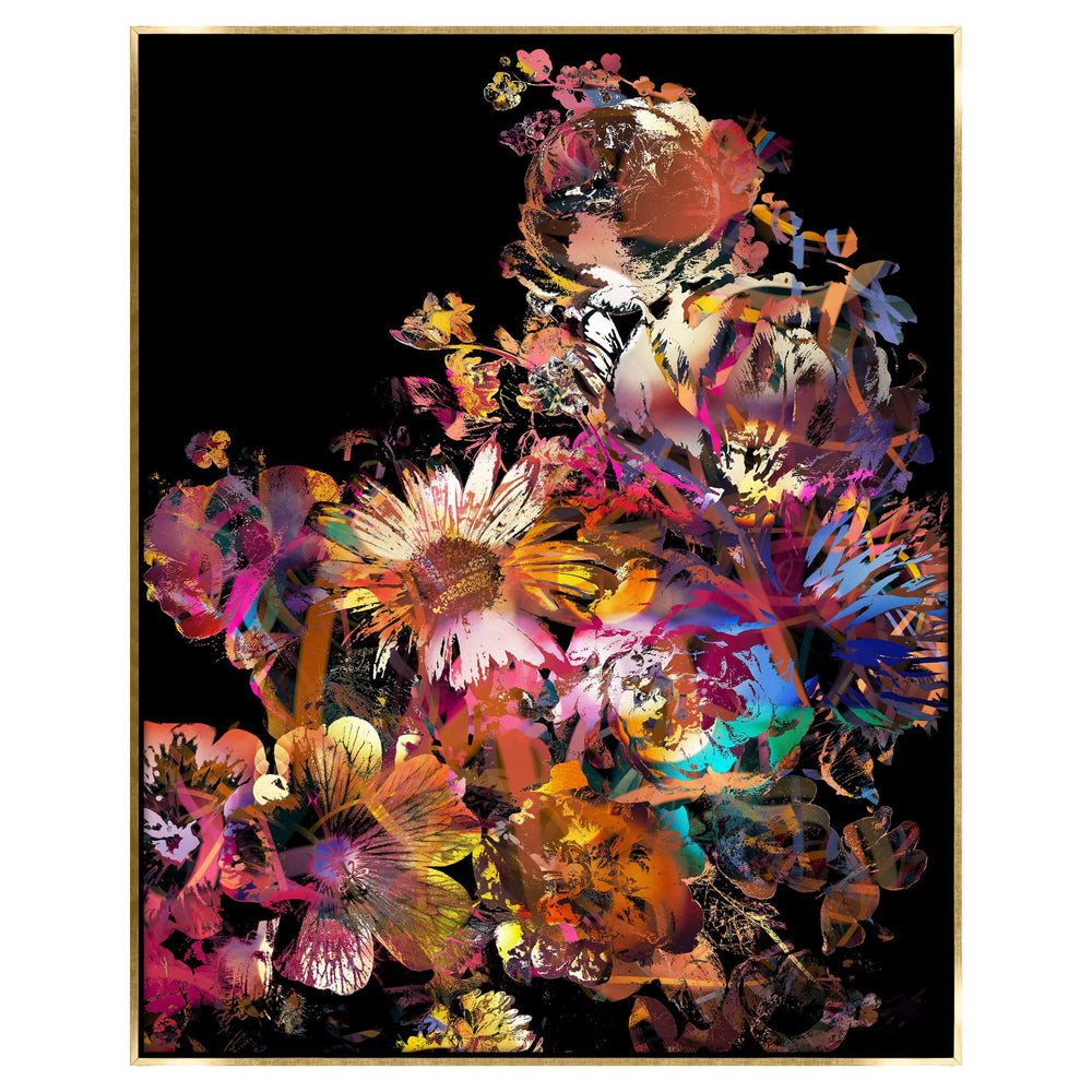 Abursting Floral II Framed - Accessories Artwork - High Fashion Home