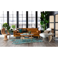 Adler Leather Sofa, Oil Buffalo Camel