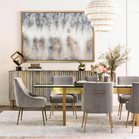Aiden Glass Top Dining Table
