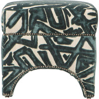 Allura Ottoman, ACDC Teal - Furniture - Chairs - High Fashion Home