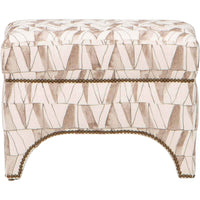 Allura Ottoman, Pen and Ink Charcoal - Furniture - Chairs - High Fashion Home
